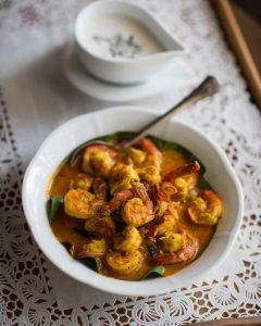 TeaTrails prawn curry
